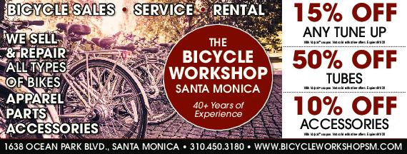 The Bicycle Workshop in Santa Monica, CA Valpak Coupon