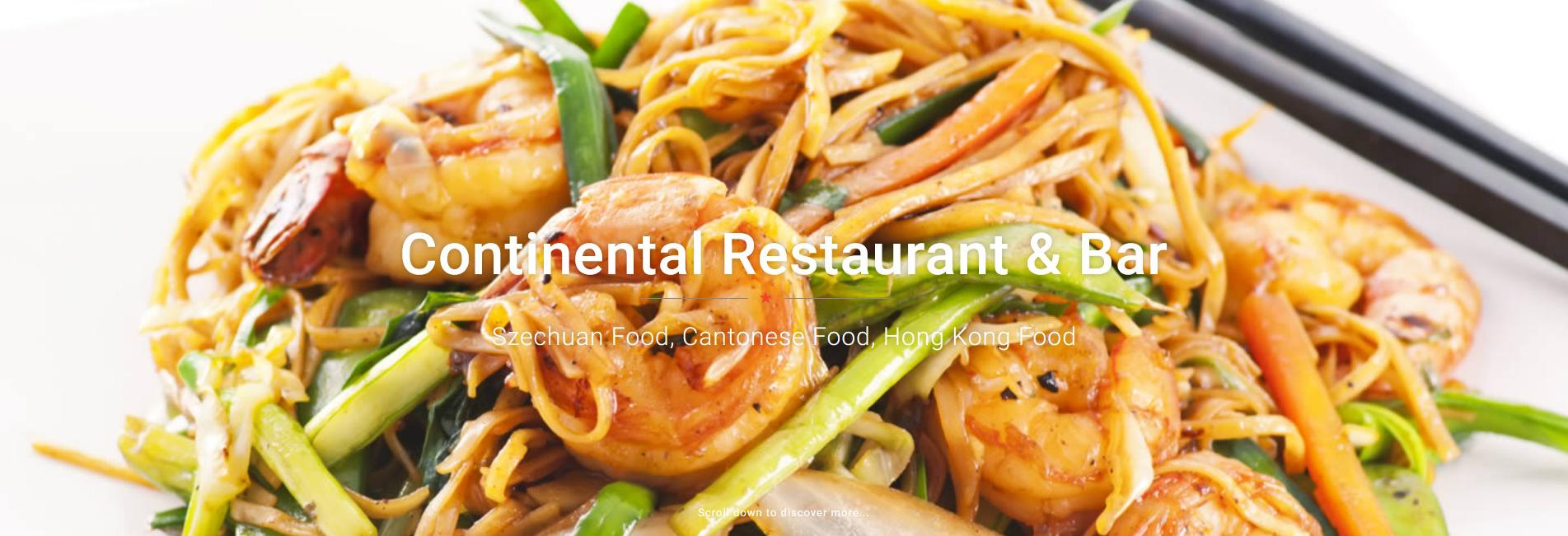 Welcome to Continental Restaurant & Bar
