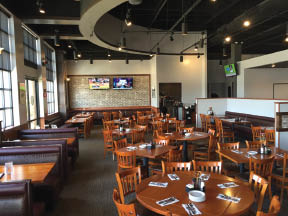 Choose indoor or outdoor patio dining at The Claim Company in Vernon Hills