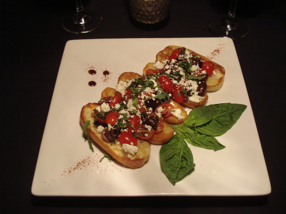 Delicious Bruschetta toast at The Diner at Sugar Hill