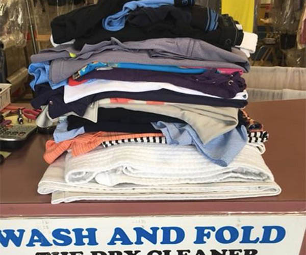 Wash, dry and fold service