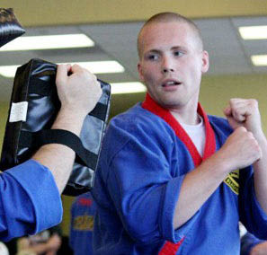 Student getting in shape using martial arts