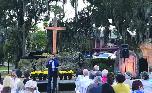 pastor giving sermon