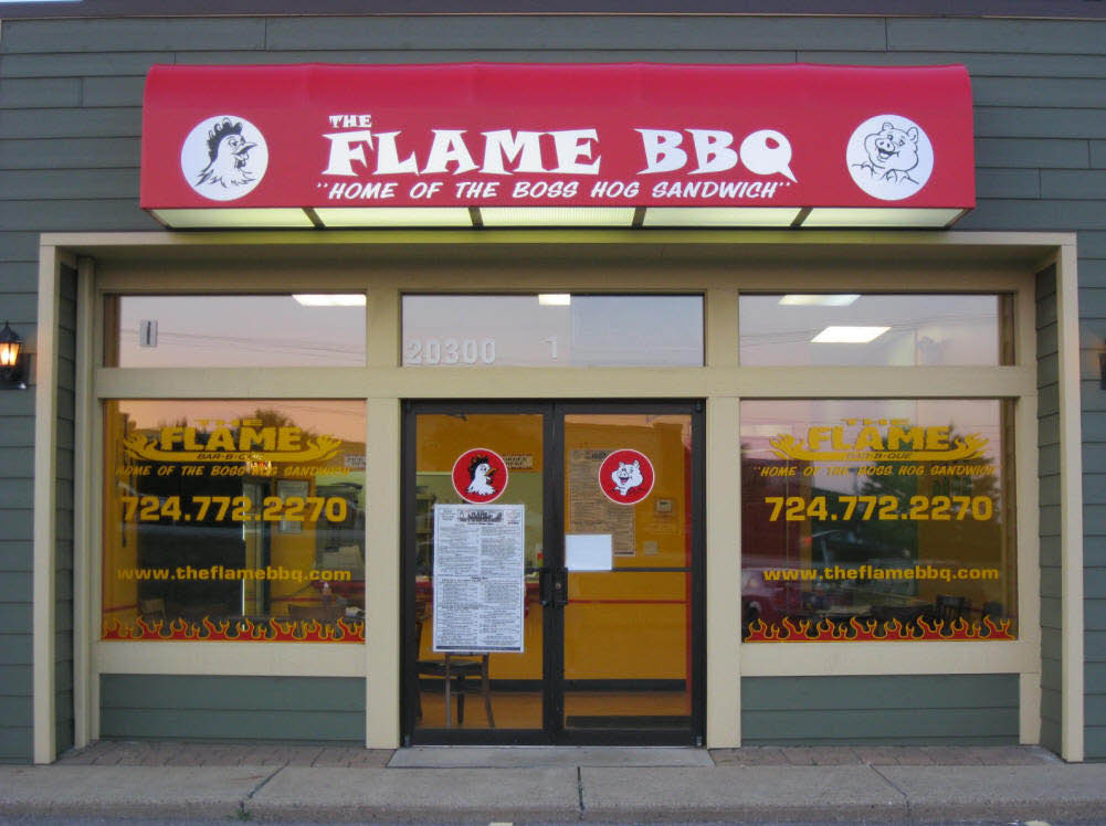 near me bbq the flame cranberry pa