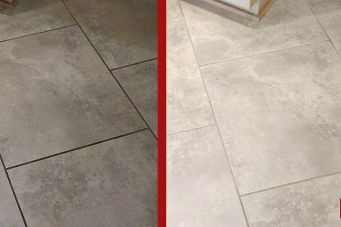 tile floor restoration from The Grout Doctor