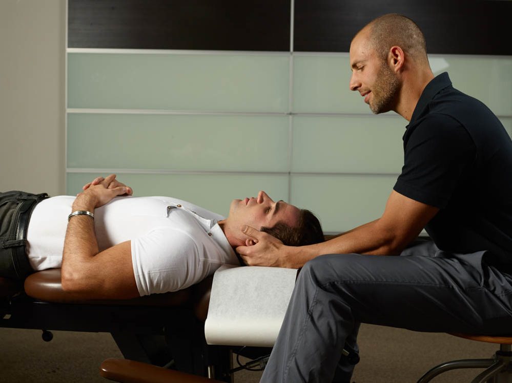 Licensed professional chiropractic care may include treatment of the neck and spine