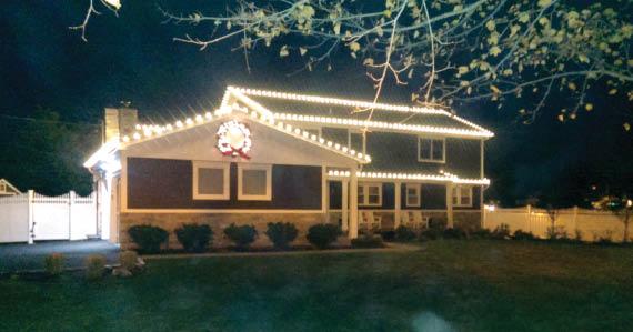 Christmas lights, landscaping