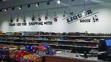 Interior photo of The Liquor House.