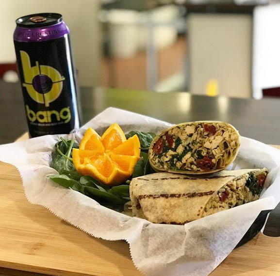 Pesto Chicken in a Gluten Free Wrap at The Nutrition Store in Newton NJ