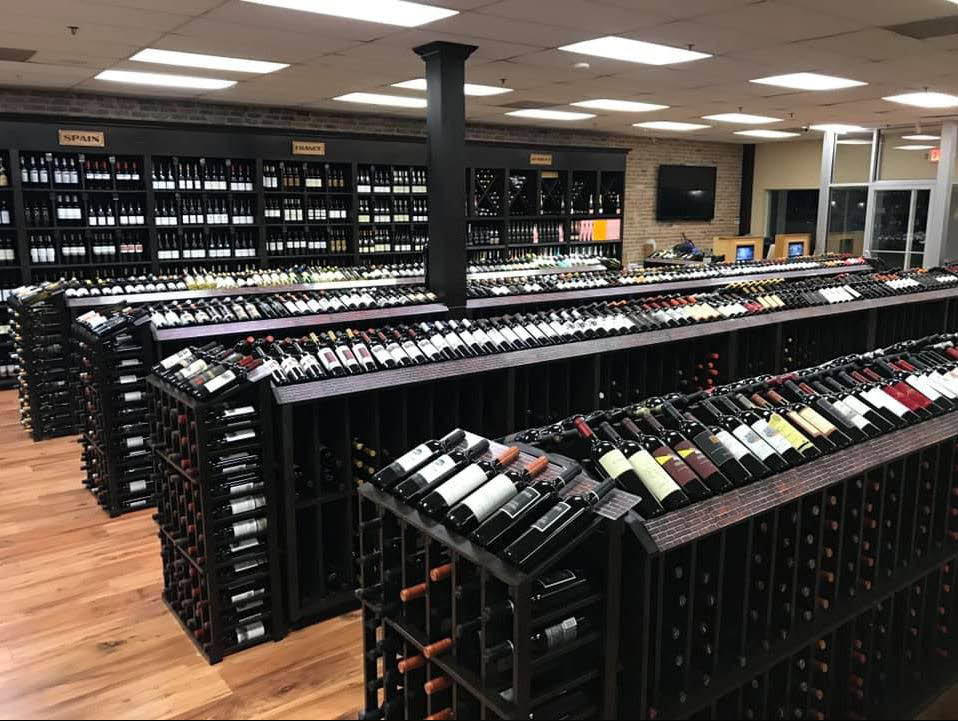 Rows of Champagne & fine wines at The Wine Authority