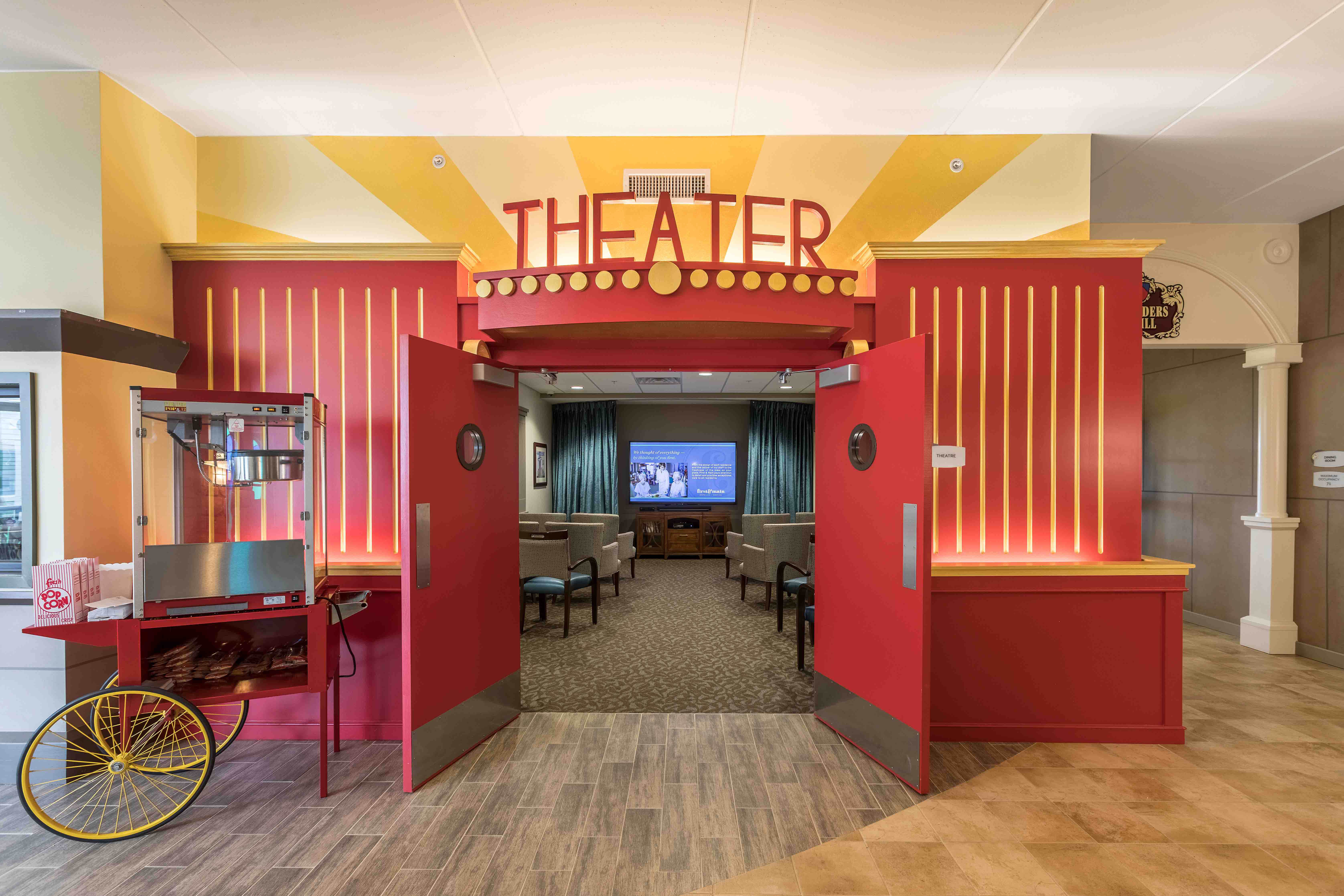elder care assisted living movie theater