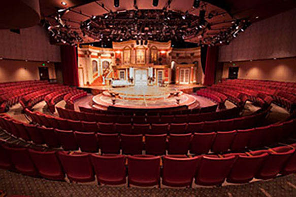 The beautiful Theatre At The Center located in Munster, IN