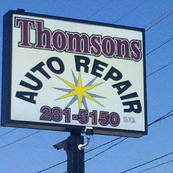 Look for Thomson's Auto Repair for quality auto service at discount prices