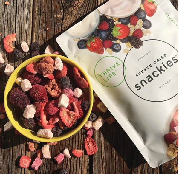Freeze dried Snackies from Thrive Life - food delivery service - food delivered to your door