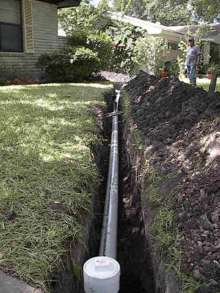Sewer line repair installed by Tipping Hat Plumbing professionals