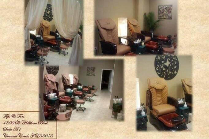 Relax and enjoy your pedicure experience at Tips and Toes