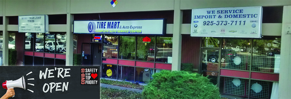 Tire Mart and Auto Express in Livermore, CA banner