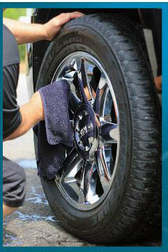 Yes, we can clean and dress your tires and wheels