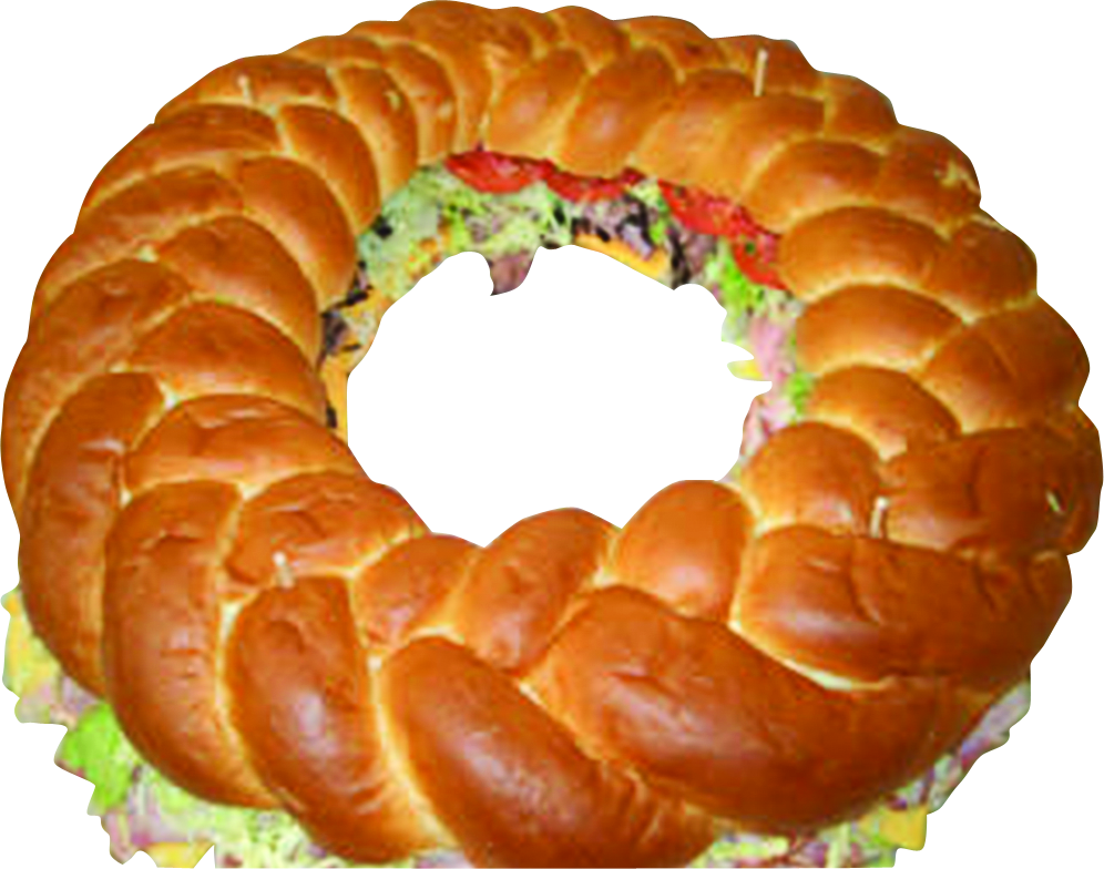 photo of circle deli sub sandwich ring from Tom Fridays market in Pittsburgh PA