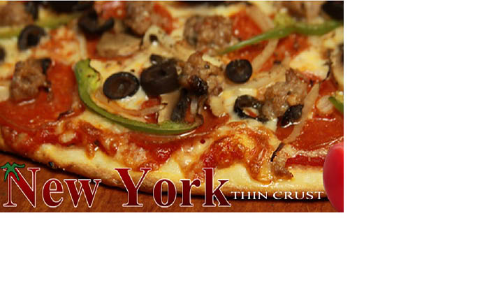 New York Style Thin Crust Pizza at Tomaso's