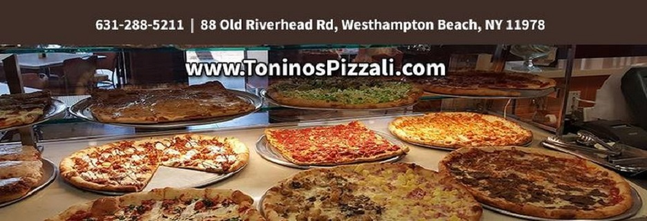 Tonino's Pizza & Italian Eatery in Westhampton, NY Banner