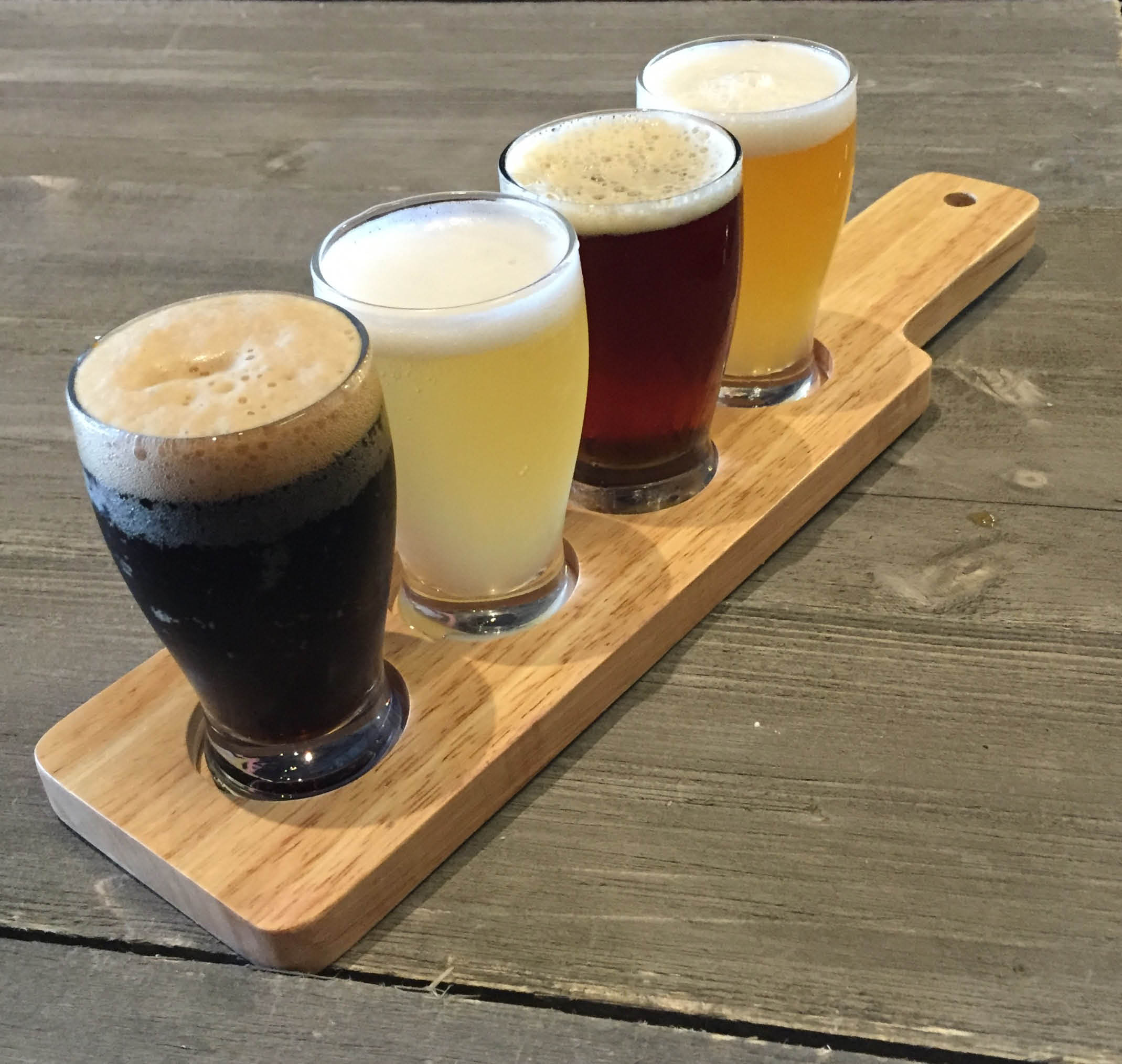 photo of beer flight from Tony Sacco's in Canton and Hartland, MI