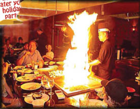 Come sit, relax and enjoy a hibachi show