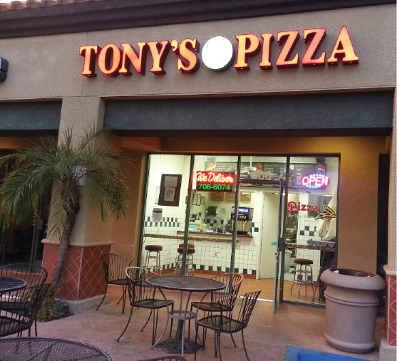 Tony's Pizza in Oak Park, California restaurant exterior