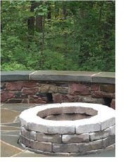 Fire Pit created by Top Notch Landscaping in Mt. Arlington NJ