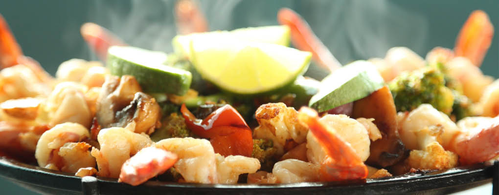 Mouthwatering shrimp fajitas from Torero's Family Mexican Restaurant - Renton, WA