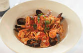 Delicious Fresh Linguine with Clams at Toscana Restaurant