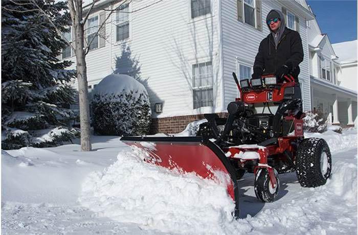 Snow tractor plow at Brandman's Power Equipment in Norwalk, CT