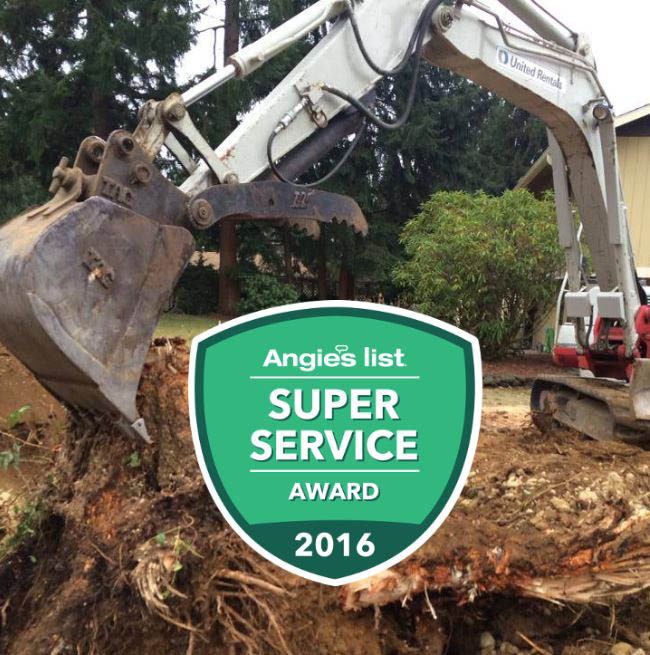 Sunrise Landscaping & Tree Removal is an Angie's List Award Winner - landscapers in Lacey, WA - tree removal in Lacey, WA