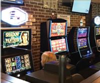 Play arcade slot machines at Tree-Guys Pizza Pub in Itasca, IL