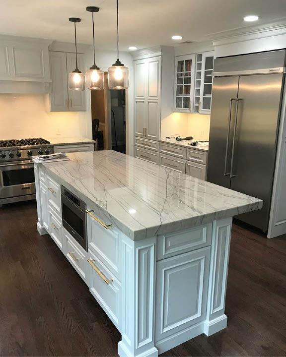 Kitchen countertops by Tri-State Stone & Tile, Inc in Rockaway NJ
