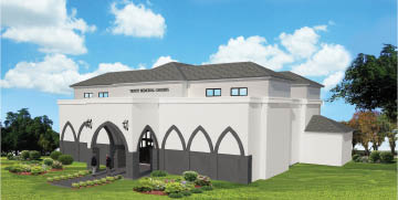 new mausoleum at trinity memorial gardens pre-construction sales  pre need only sales New Mausoleum being built in Trinity FL