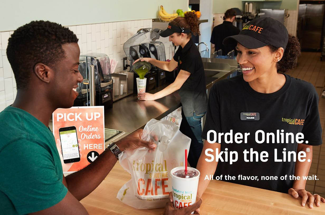 Skip the line and order online at Tropical Smoothie Cafe in Kent, WA - all of the flavor, none of the wait