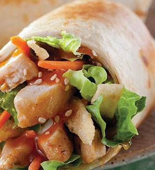 Healthy wraps and sandwiches at Tropical Smoothie Cafe in Flint & Fenton