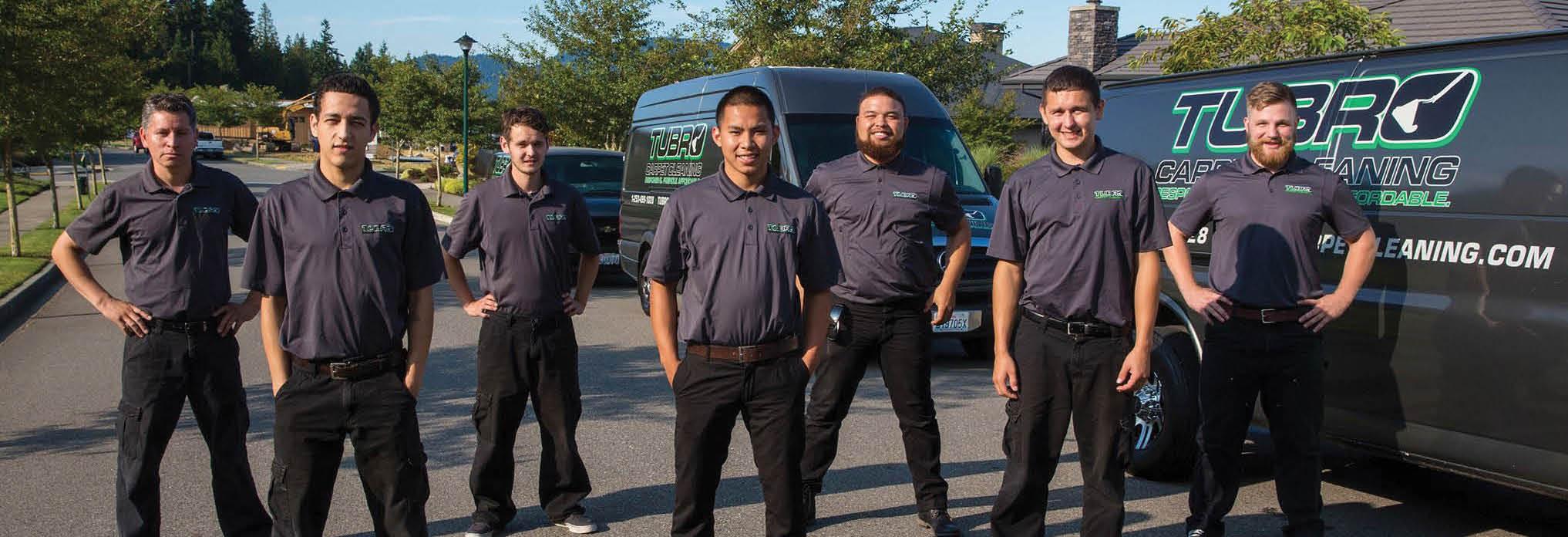 Tubro Carpet Cleaning main banner image - friendly employees - Auburn, WA