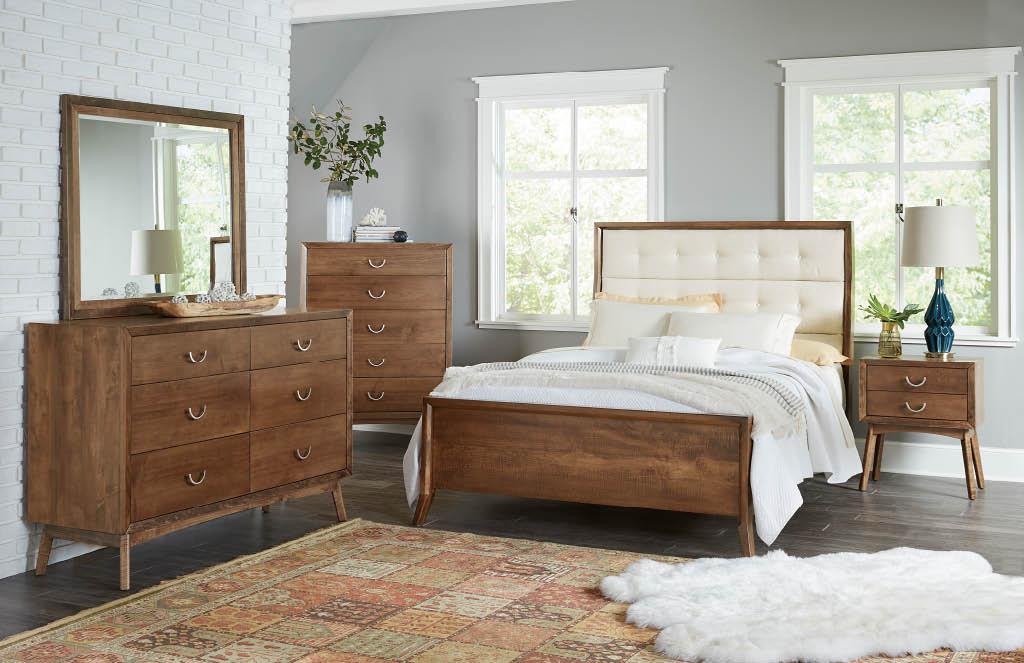 amish oak bedroom set custom furniture bed nightstand dresser