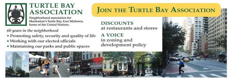 Join the Turtle Bay Association banner with reasons why