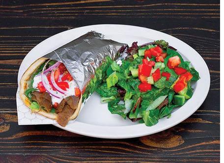 Gyro sandwich and salad near Pasadena, CA