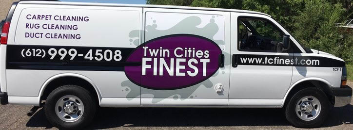 Twin Cities Finest Carpet Cleaning Truck