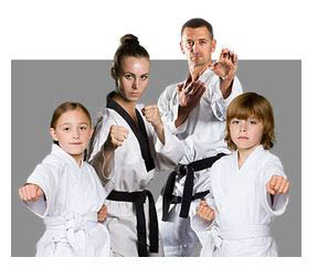 photo of family performing martial arts at Ultimate Protector Martial Arts Academy in Livonia, MI