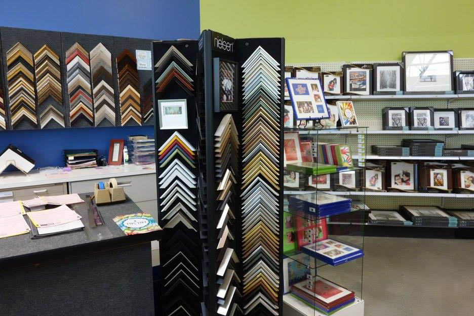 Check out our framing shop inside University Art supply stores