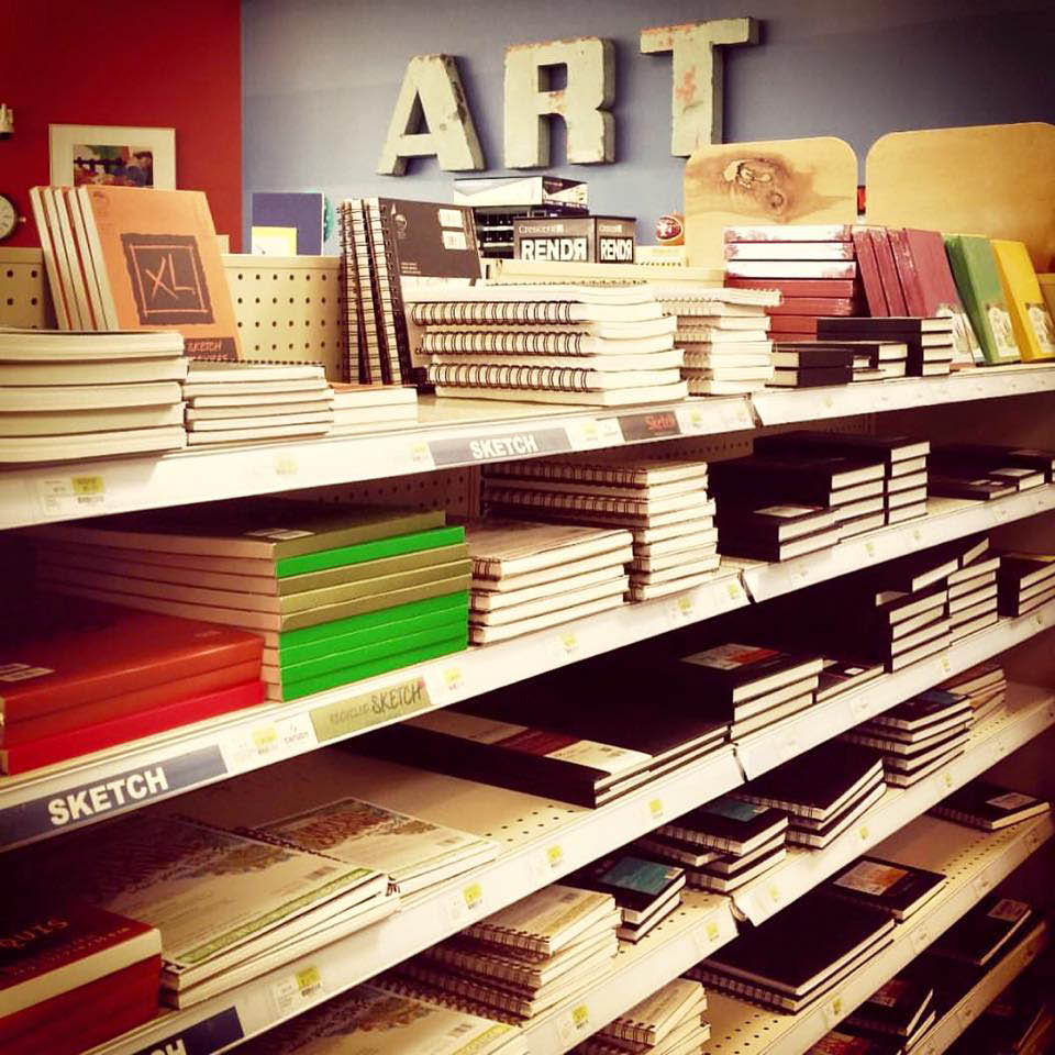 Brand name art supplies for every medium in San Jose & Redwood City locations