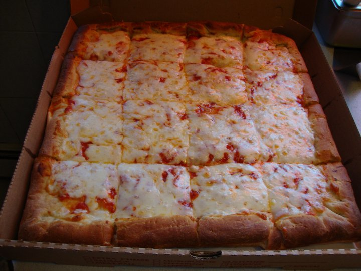 Sicilian pizza from Villa Italia