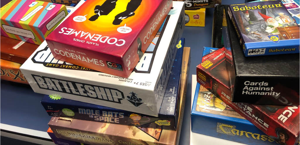 Huge selection of tabletop games and board games to play at VR GO! in Seattle, WA - Seattle entertainment near me