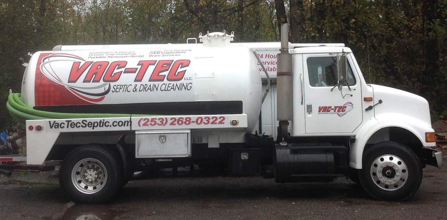 Septic services 24 hours a day from Vac-Tec Septic & Water in Puyallup, WA