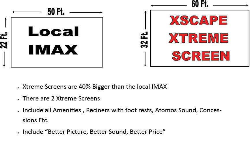 movies, screen, xscape